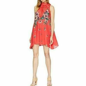 NWT Free People Marsha Red Lace Slip Dress Size S
